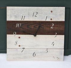 pallet clock woodfurniture