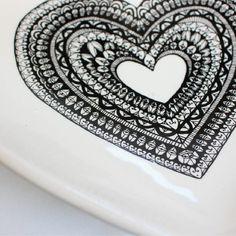 Handmade Clutch, Black Heart, Serving Bowls, Artisan, Shop, Beautiful, Design, Decor, Decoration