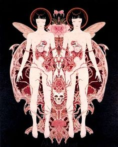 Takato Yamamoto Necrophantasmagoria Ltd Ed (inside page) Mark Ryden, Audrey Kawasaki, Ero Guro, Japanese Horror, Japanese Artwork, Dark Art Drawings, Macabre Art, Occult Art, Graphic Artwork