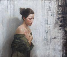 """""""Approaching Noise""""  David Jon Kassan  Oil on Wood Panel  40 by 34 inch"""
