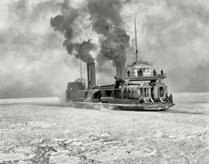 .. ferry crossing the Detroit River in winter | Flickr - Photo Sharing