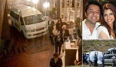 Image results from Anni Dewani trial murder showing the night before she was murdered and the scene where the murder took place.