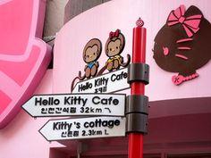 Hello Kitty cafe in hip Hongdae, Seoul