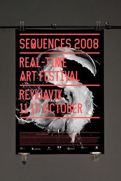Sequences real-time art festival poster by Jónas Valtýsson, Siggi Odds, Sven and Mundi.