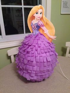 Disney Princess Birthday Party Piñata Rapunzel Tangled by BobbiGirlBoutique