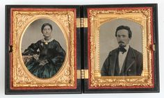 AMBROTYPE DOUBLE IMAGE,WOMAN, MAN.TINTED,AMBER GLASS. 1/9 PLATE,ANGEL UNION CASE. AMBROTYPE TWO UP CASE, DOUBLE IMAGE WOMAN,MAN. HANDSOME COUPLE,BEAUTIFULLY TINTED DRESS. AMBER GLASS,1/9 PLATE,ANGEL HOLDING CHILDREN UNION CASE. | eBay!