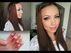 My Fall Make-up,Outfit,Hair and Nails -- great waterfall twist resource :)