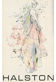 Elaine Biss: Inspiration Files-Roy Halston Frowick     Kenneth Paul Block illustration