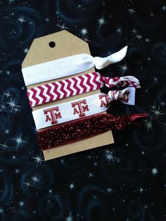 Nocrease hair ties Texas A&M No Crease Hair Ties, College Necessities, Texas A&m, Happy Fall, Guys And Girls, Sewing Crafts, University College, College Station, Hairspray