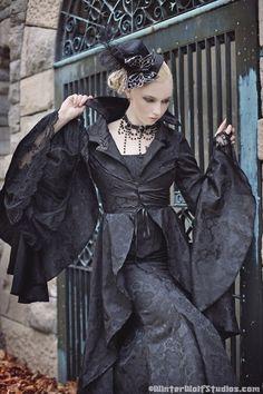 Stardust Gothic Corset Fishtail Jacket 3pce Set Wedding Steampunk Deco Custom