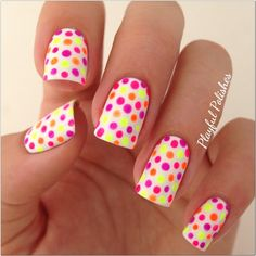 25 Cute Eye Catching Neon Nail Arts