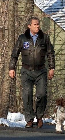USN G1 jacket president Bush 43