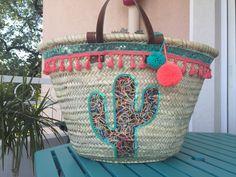 "Panier de plage ""Cactus"""