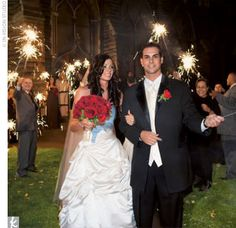 Love the sparklers.