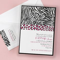 Animal Print Shimmer - Invitation Your daughter will love this modern animal print invitation! Great for Sweet Sixteen, Bat Mitzvah