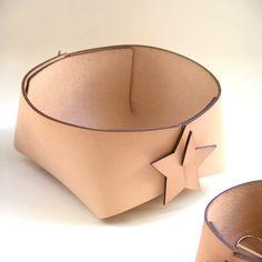 Adorno estrellas de diseño nórdico cuero almacenamiento cesta - bin gran organizador-