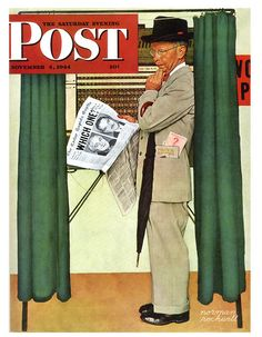 """""""Which One?"""" ... by Norman Rockwell - Saturday Evening Post Cover November 4, 1944"""