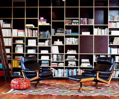 Looking for the perfect bookshelf storage solution? Take inspiration from these awe-inducing home library designs. Plywood Bookcase, Bookshelf Storage, Bookshelves, Bookshelf Ideas, Home Library Design, House Design, Library Ideas, Converted Warehouse, Getting Rid Of Clutter