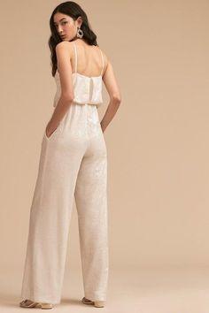 6cf45d6d88cc White BHLDN LA LUNE SEQUIN JUMPSUIT- SIZE 8 - perfect condition  fashion   clothing
