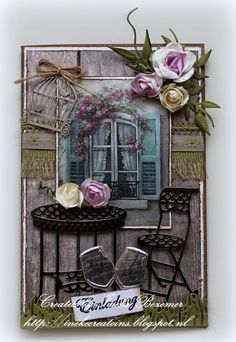 """Ineke""""s Creations: Einladung - Joy Craft dies Diy Paper, Paper Crafts, Diy Cards, Handmade Cards, Marianne Design, Bullet Journal Inspiration, Ramen, Birthday Cards, Projects To Try"""