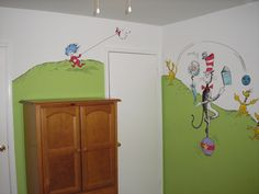 Dr. Seuss kids bedroom mural
