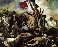 Delacroix, La libertà che guida il popolo, 1830, olio su tela, 260 x 325 cm, Parigi, Musée du Louvre