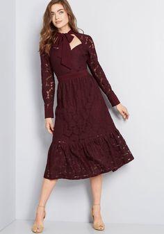 7e8138171 Kick Up Your Heels Lace Midi Dress
