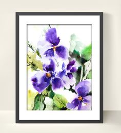 Abstract Flowers Art Print from Original by CanotStopPrints, $12.00