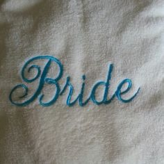 bride embroidery in blue