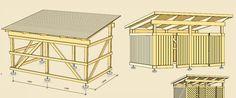 Bygg ett cykelförråd - byggbeskrivning Bike Storage, Shed Storage, Storage Bins, Sauna Infravermelho, Bike Shelter, Firewood Shed, Bike Shed, Backyard, Patio