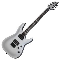 Satin Silver Schecter C-1 Schecter Guitars, Beautiful Guitars, Acoustic, Music Instruments, Satin, Model, Silver, Vintage, Electric