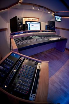 StudioRacks custom desk at Alive Network studios, London. www.studioracks.co.uk