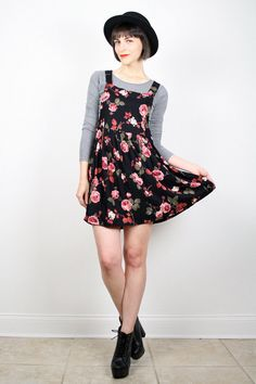 Vintage Grunge Dress Babydoll Dress Mini