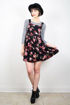 Vintage Grunge Dress Babydoll Dress Mini