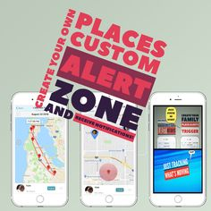 "You can now design  your own #Places Custom Alert Zone and  receive notification of the arrival and departure of people added to this group. This feature will inform you about when your child arrives at or departs a Places Custom Alert Zone , as ""GrandMa"" or ""School""  or ""Pool"" . This service is useful for #Organizing #Meetings and #Parties !"