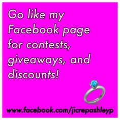 Win a $10 egiftcard at my jewerly in candles store. Go like my facebook fan page to find out how!!!! You can use it for yourself or a friend! Go now while the priceless sale is long on with every candle or tart ordered you get a second piece of jewlery with it!!!!