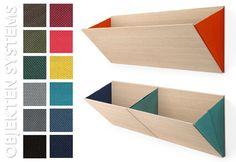 leaning :: wall storage solution for kids room  Diane Steverlynck for Belgium label Objekten - #kids #furniture #nowforkids #eglue