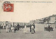 boulogne sur mer 1910 . la plage (jolie animation)    En vente sur Delcampe