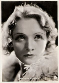 Marlene Dietrich. German postcard by Ross Verlag, no. 501. Photo: Paramount. Publicity still for <i>Morocco</i> (Josef von Sternberg, 1930).