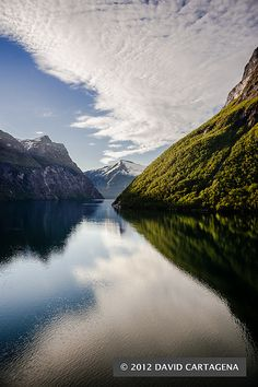 Early morning view. View down the Geiranger fjord captured from MSC Poesia, Norway | David Cartagena