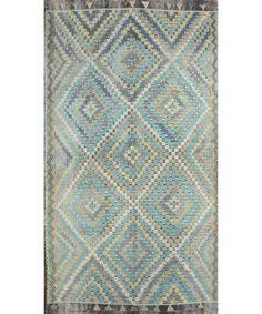 "Turkish Kilim Rug-model-cc1695 CC1695-Design# 1221, Size- 6'-6"" X 11'-10"" #livingroom #diy #handmade #best #cleaning #modern #design #runner #print #carpet #rugs #flooring #office #home #decoration #bedroom"