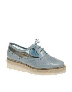 ASOS MILLIE Leather Platform Creeper Shoes