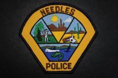 Needles Police Patch, San Bernardino County, California (Defunct - Department disbanded in 1989 - Contract with San Bernardino County Sheriff)
