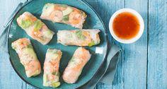 In dit recept van Lekkere Recepten @ FitGirl vind je een versie van de healthy rolls met garnalen, knoflook, wortel en avocado.