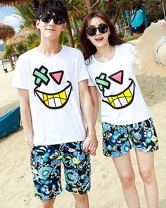 CC01611 Short sleeve couple clothes Korean style tops 2pcs set Couple Clothes, Couple Outfits, Cheap Clothes, Korean Outfits, Korean Style, Korean Fashion, Bts, Couples, Sleeve