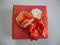 Orange Photo Album in shantung orange and white silk by Lovalu, $105.00