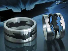 Batman Dark Knight Puzzle Ring. I want this, but for my wedding ring and less chunky!