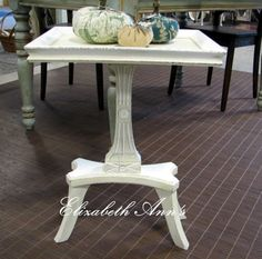 Small side table. ASCP old white & pure white.