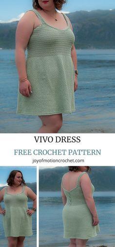 Look at this beautiful crochet dress, the crochet Vivo Dress Crochet pattern. Perfect all year crochet pattern. Crochet Skirt Pattern, Crochet Motifs, Crochet Top, Crochet Patterns, Crochet Baby, Irish Crochet, Crochet Ideas, Crochet Ruffle, Bear Patterns