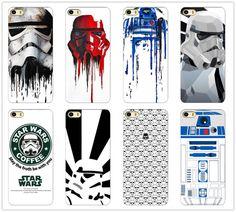 R2d2 di star wars caffè stormtrooper copertura posteriore del telefono per iphone 4 4 s 5 5 s